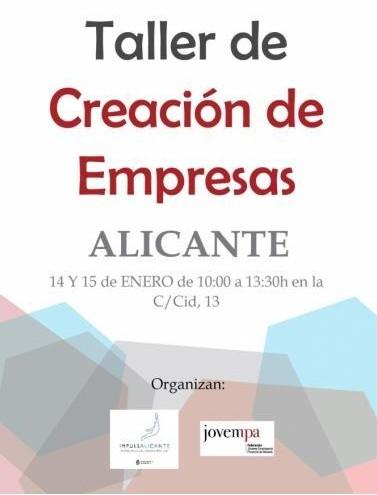 Taller de creación de empresas Alicante