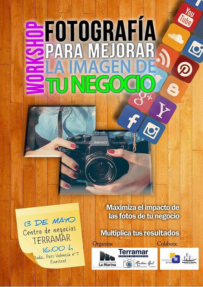 Próximo curso de fotografía en Terramar Centro de Negocios impartido por El Club Empresarial La Marina