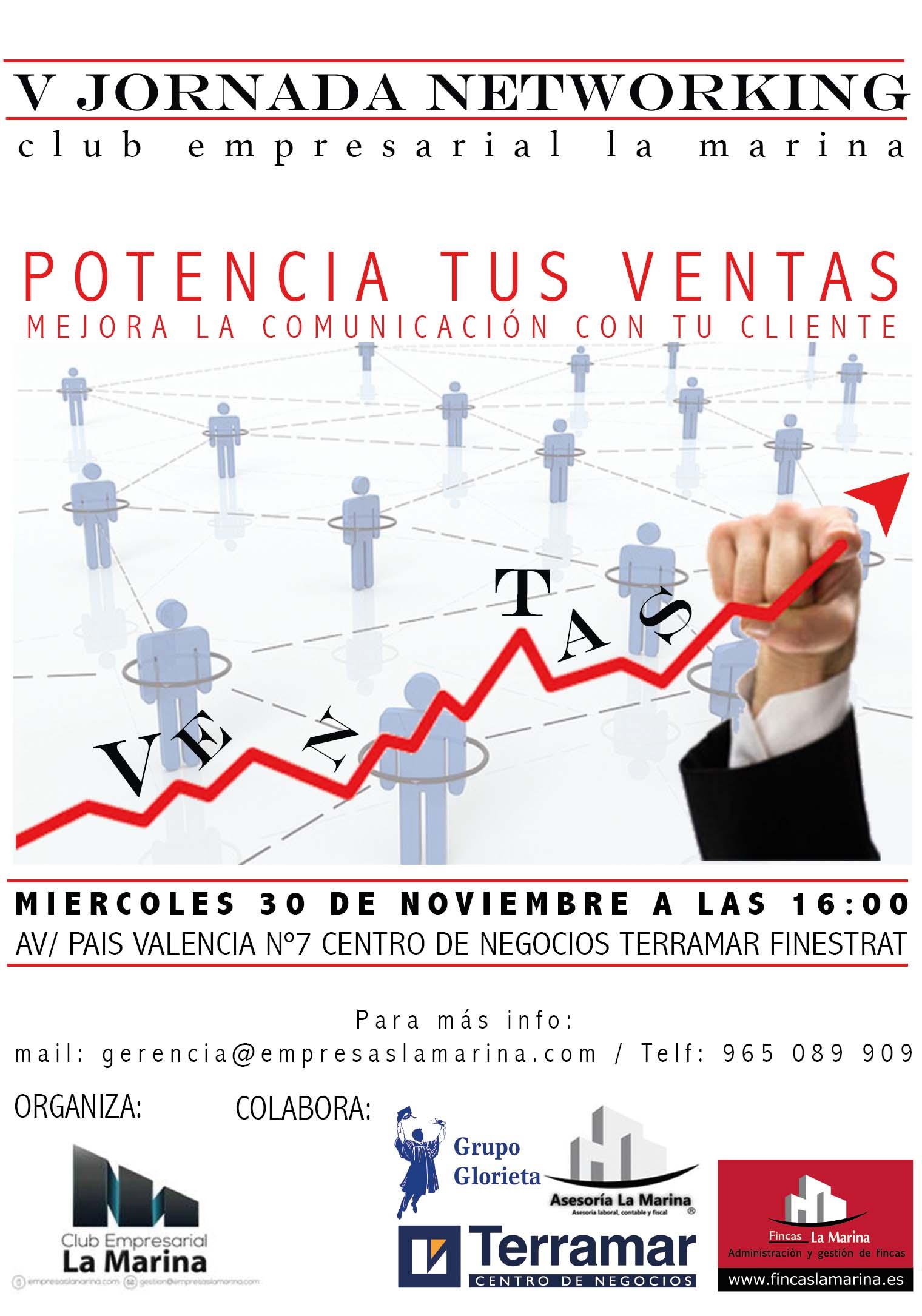V Jornada Networking Club Empresarial La Marina en Terramar Centro de Negocios