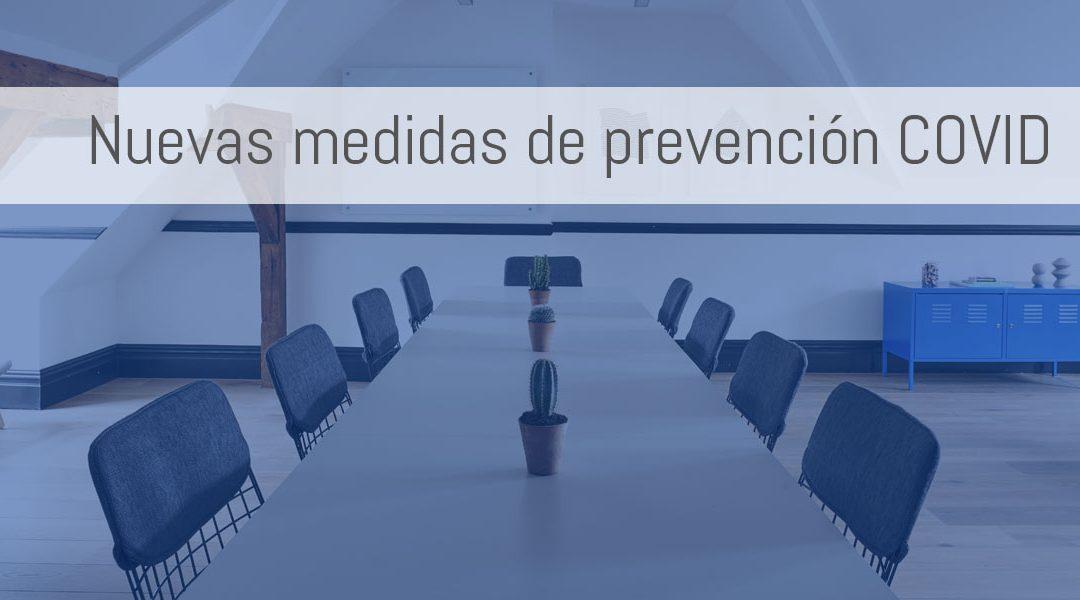 Nuevas medidas de prevención en las oficinas